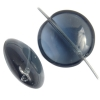 Glass Bead Round Flat 14x6mm Transparent Montana
